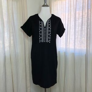 Old Navy Black linen blend tunic dress